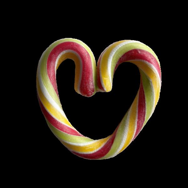 Fruit Rock Candy Heart