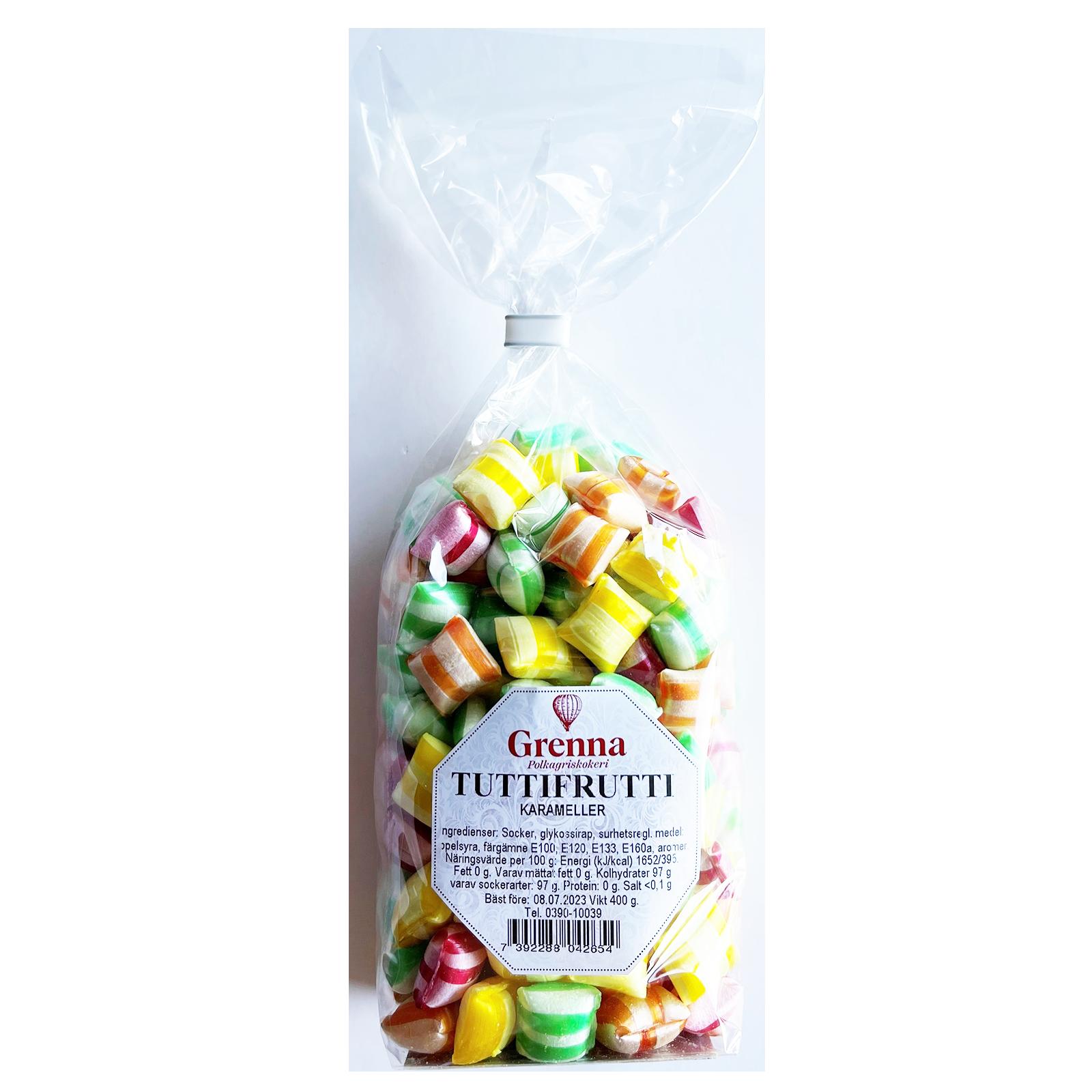 Tutti-Fruttikarameller stor