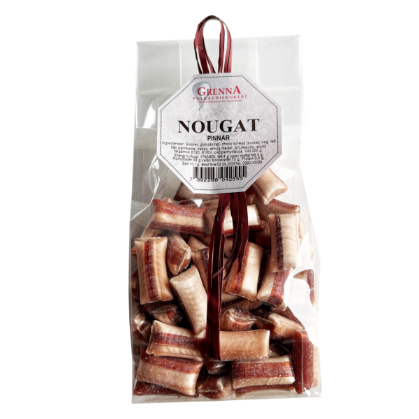 Chocolate filled nougat sweets